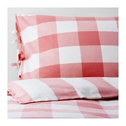 EMMIE RUTA quilt cover and 2 pillowcases, white, pink Pillowcase quantity: 2 pack Quilt cover length: 200 cm Quilt cover width: 150 cm
