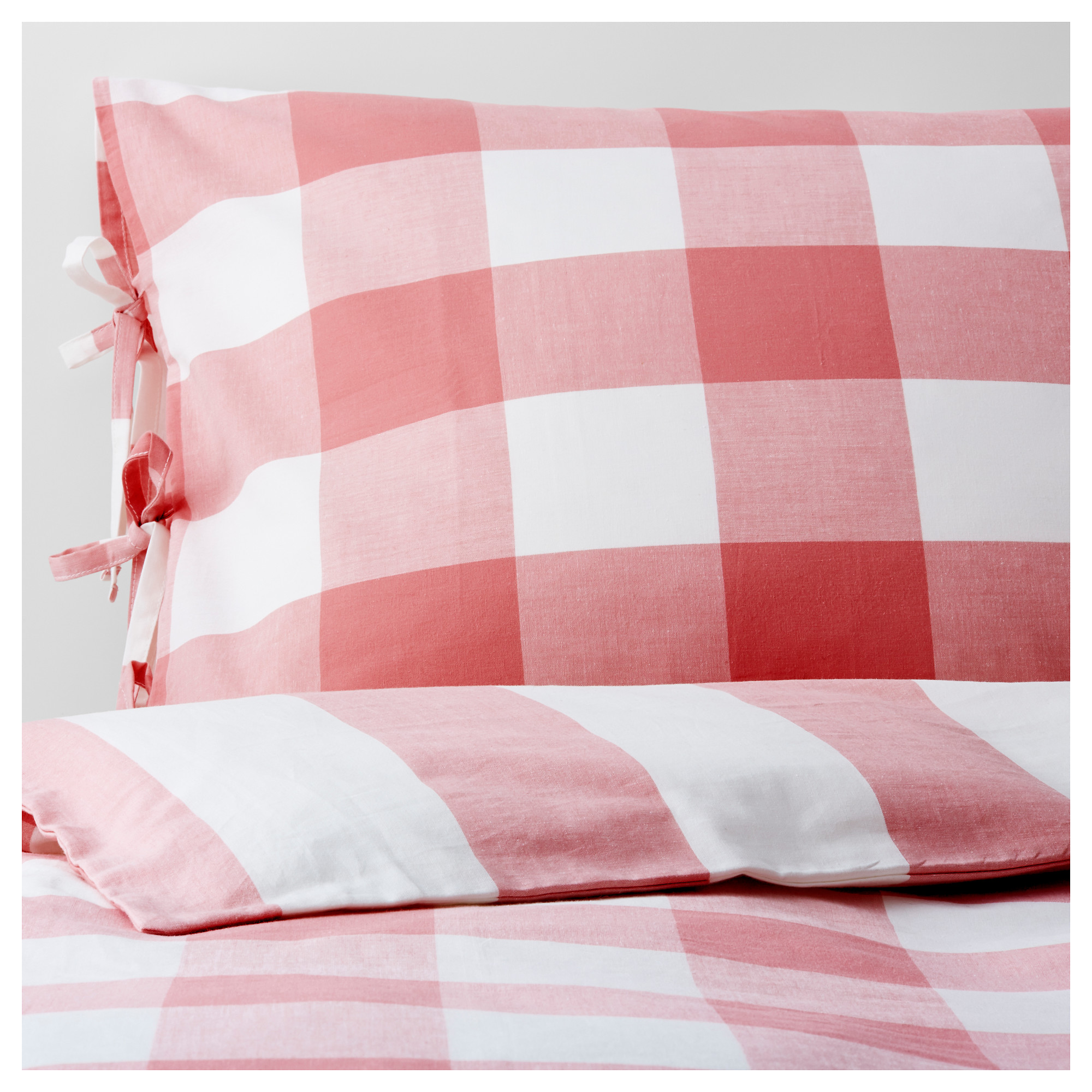 White and red bed sheets - Emmie Ruta Duvet Cover And Pillowcase S Pink White Thread Count