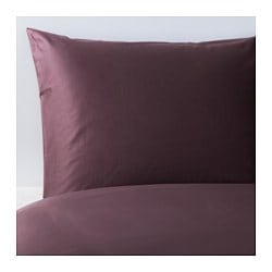 GÄSPA quilt cover and pillowcase, dark lilac Quilt cover length: 200 cm Quilt cover width: 150 cm Pillowcase length: 50 cm