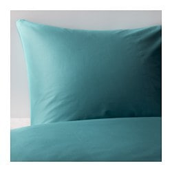 GÄSPA quilt cover and pillowcase, turquoise Quilt cover length: 200 cm Quilt cover width: 150 cm Pillowcase length: 50 cm
