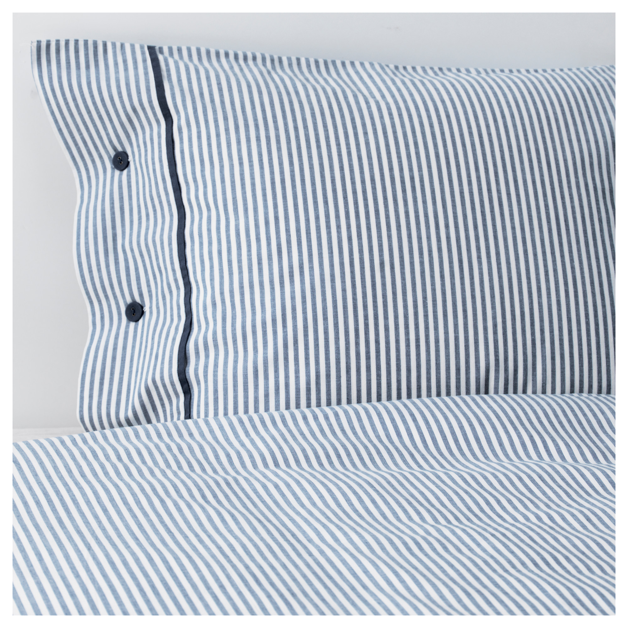 NYPONROS duvet cover and pillowcase s   white blue Thread count  152. Bedding   Bed Linen   IKEA