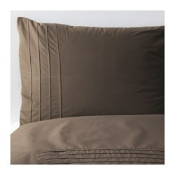 ALVINE STRÅ quilt cover and pillowcase, brown Quilt cover length: 200 cm Quilt cover width: 150 cm Pillowcase length: 50 cm