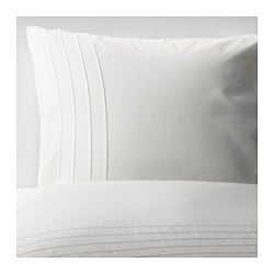 ALVINE STRÅ quilt cover and pillowcase, white Quilt cover length: 200 cm Quilt cover width: 150 cm Pillowcase length: 50 cm