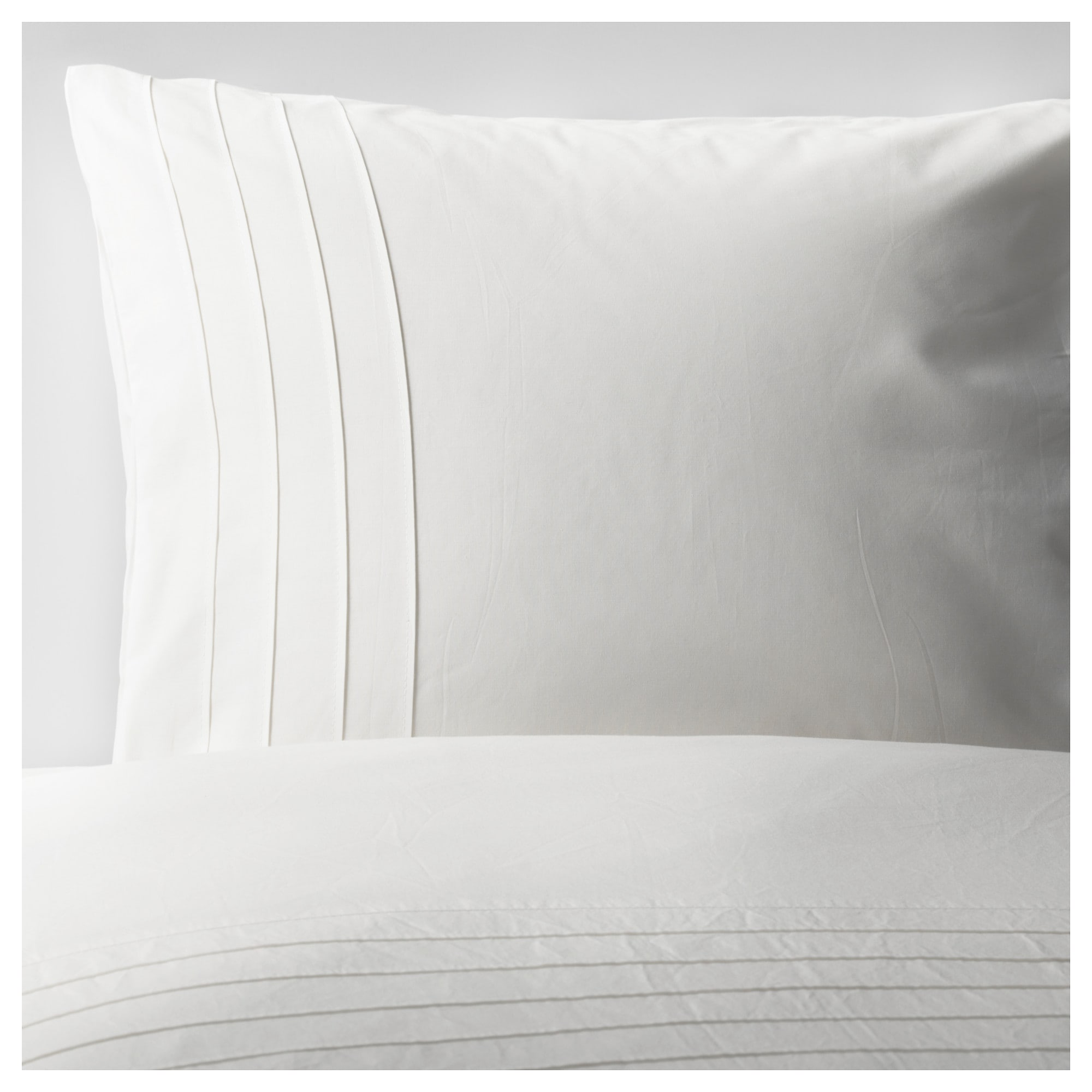 alvine str duvet cover and pillowcases white thread count 190 - Comforter Covers