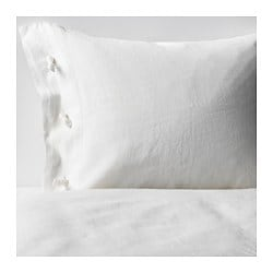 LINBLOMMA quilt cover and 2 pillowcases, white Pillowcase quantity: 2 pack Quilt cover length: 200 cm Quilt cover width: 150 cm