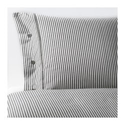 "NYPONROS duvet cover and pillowcase(s), gray Thread count: 152 square inches Duvet cover length: 86 "" Duvet cover width: 86 "" Thread count: 152 square inches Duvet cover length: 218 cm Duvet cover width: 218 cm"