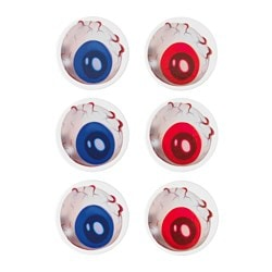 GILTIG coaster, blue/red Diameter: 9 cm Package quantity: 6 pack