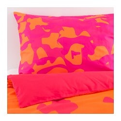 "GILTIG duvet cover and pillowcase(s), assorted designs Duvet cover length: 86 "" Duvet cover width: 86 "" Pillowcase length: 20 "" Duvet cover length: 218 cm Duvet cover width: 218 cm Pillowcase length: 51 cm"