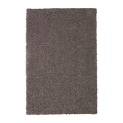 HÖJERUP rug, high pile, grey-brown Length: 180 cm Width: 120 cm Thickness: 8 mm