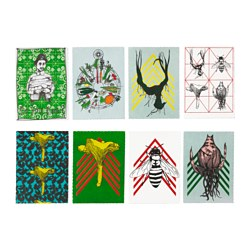 ANVÄNDBAR art card, assorted motifs Width: 13 cm Height: 18 cm Package quantity: 8 pieces