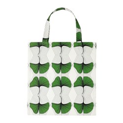 ANVÄNDBAR bag, green/white Length: 45 cm Height: 46 cm