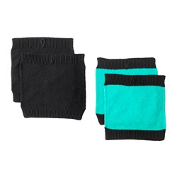 ANVÄNDBAR dish-cloth, black, turquoise Length: 20 cm Width: 20 cm Package quantity: 4 pieces