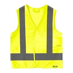 BESKYDDA reflective vest, XS, yellow Chest circumference: 79 cm
