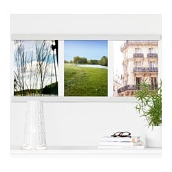 NÄSVIKEN frame for 3 pictures, white Length: 101.7 cm Width: 45.9 cm Picture, width: 30 cm
