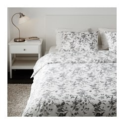 Alvine Kvist Duvet Cover And Pillowcase S White Gray