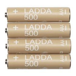 LADDA rechargeable battery Weight: 10 g Package quantity: 4 pieces