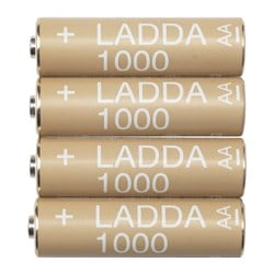 LADDA rechargeable battery Weight: 19 g Package quantity: 4 pieces