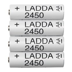 LADDA rechargeable battery Weight: 31 g Package quantity: 4 pieces