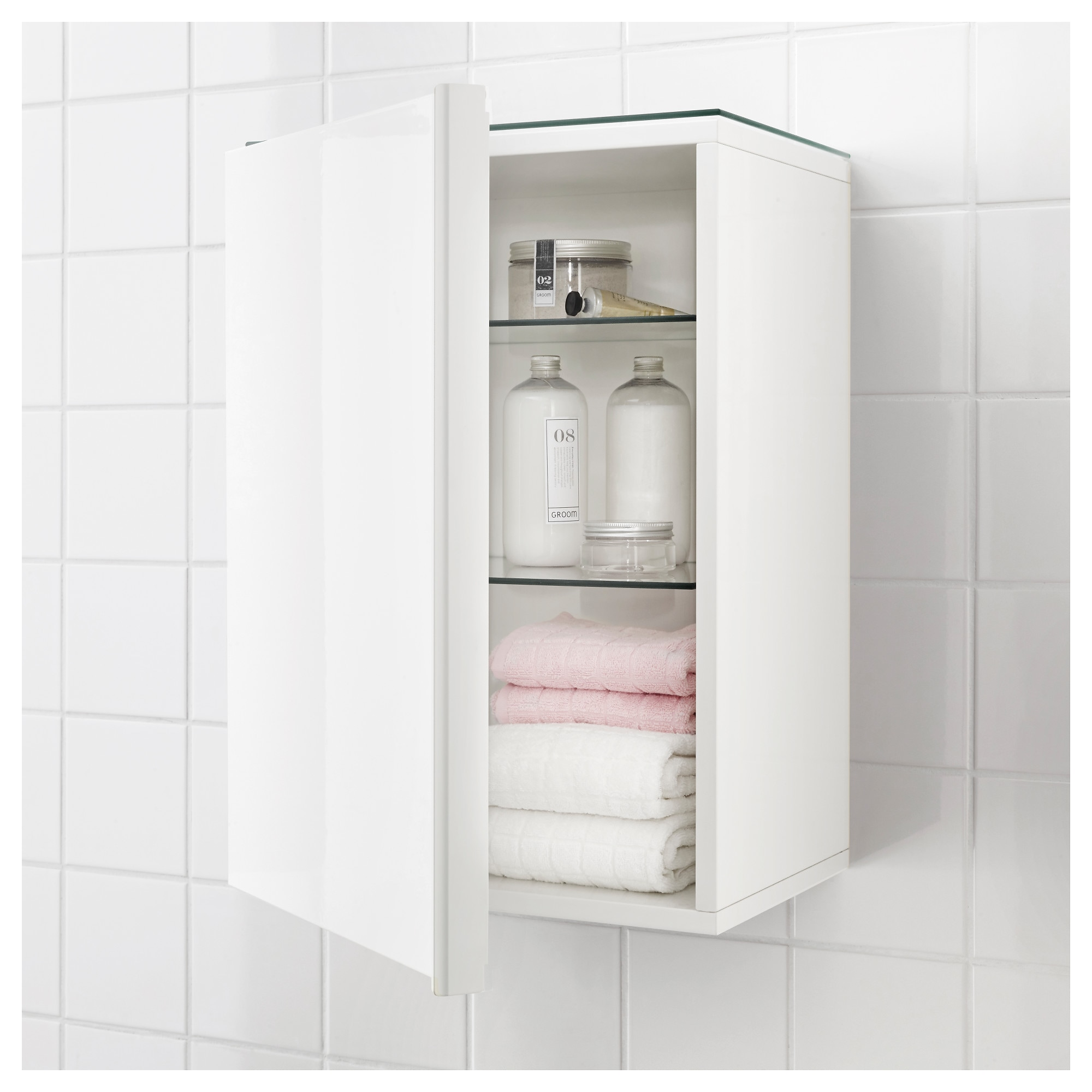 GODMORGON Wall cabinet with 1 door white 15 3 4x11 3 4x22 7 8