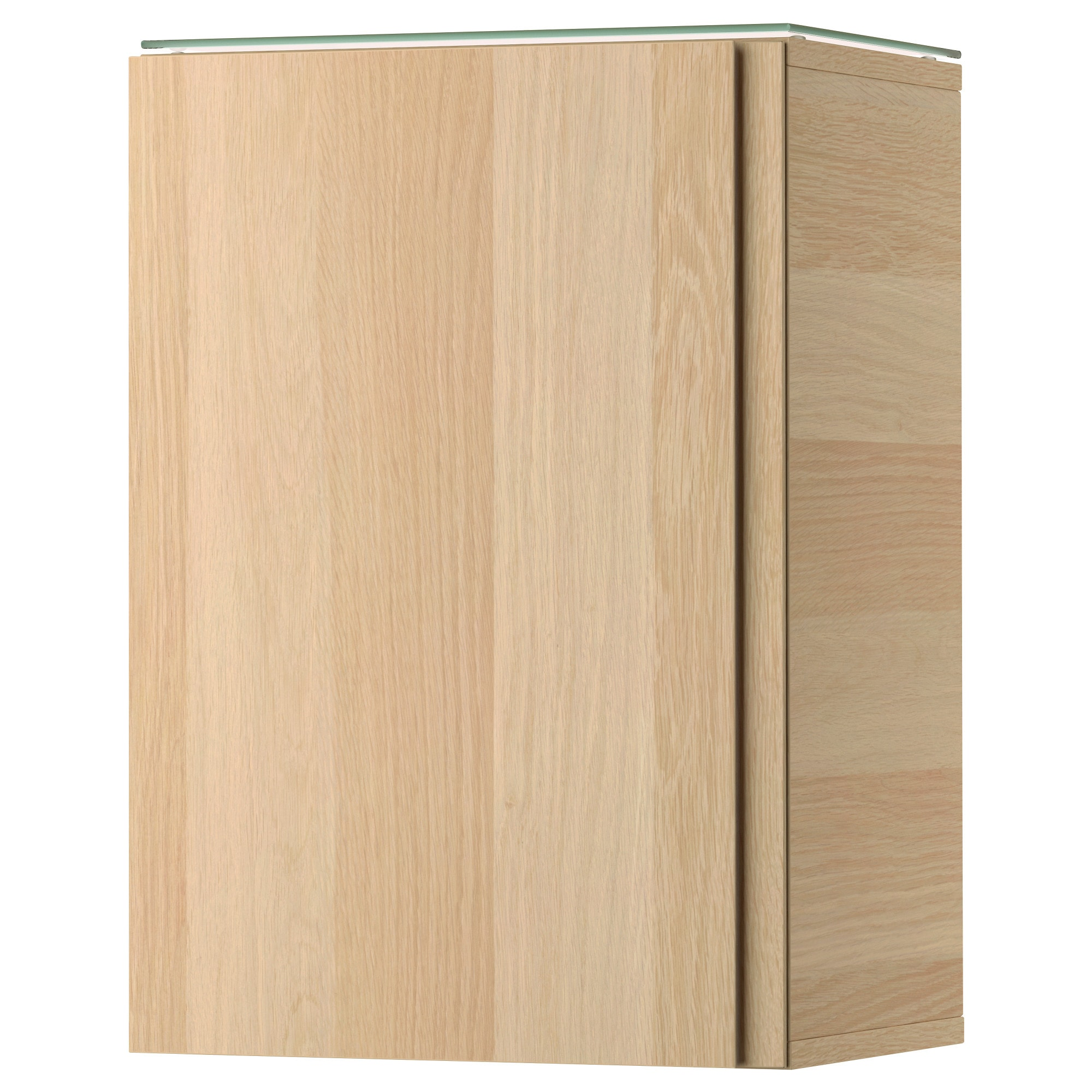 GODMORGON Wall cabinet with 1 door white stained oak effect 15