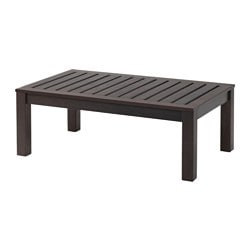 KLÖVEN coffee table, outdoor, brown stained