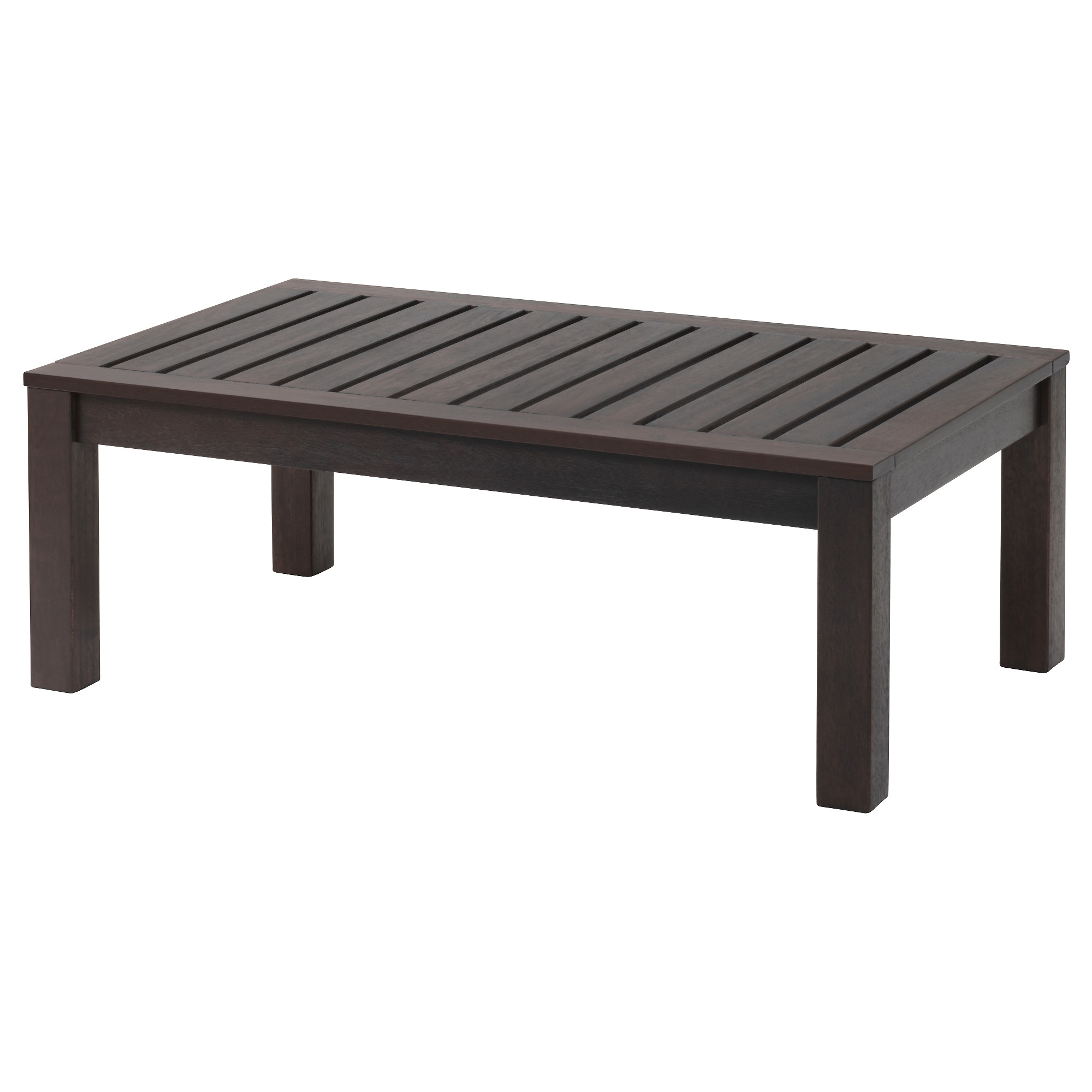 Kloven Coffee Table Outdoor Black Brown Brown Stained X26 113x66 Cm