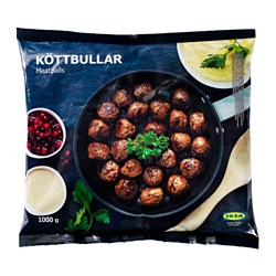 KÖTTBULLAR meatballs, frozen Net weight: 1000 g