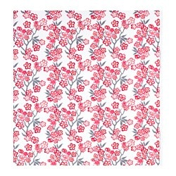 LYCKSALIG fabric, floral patterned Width: 150 cm Pattern repeat: 91 cm Area: 1.36 m²