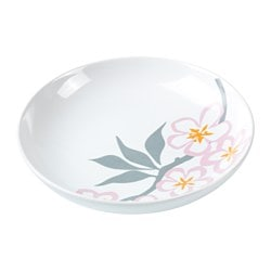 LYCKSALIG side plate, white/red Diameter: 15 cm
