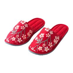 LYCKSALIG slippers, floral patterned