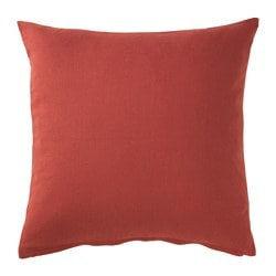 VIGDIS cushion cover, red-orange Length: 50 cm Width: 50 cm