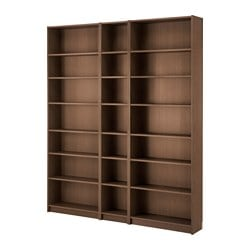 BILLY bookcase, brown ash veneer