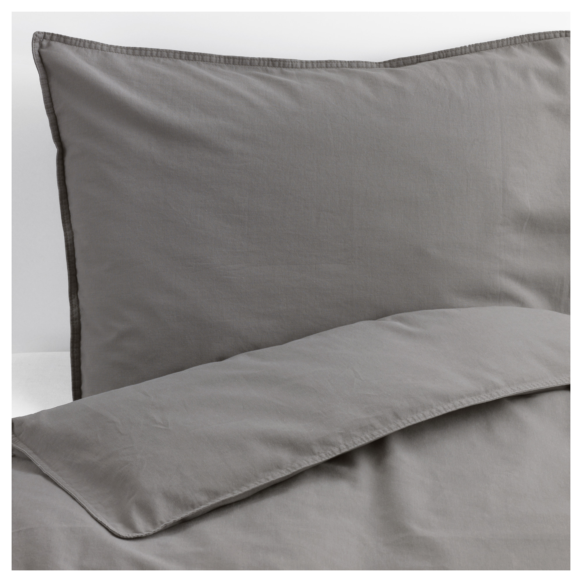 ngslilja duvet cover and pillowcases gray thread count 125 inch