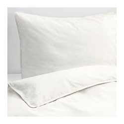 ÄNGSLILJA quilt cover and 4 pillowcases, white Thread count: 125 /inch² Pillowcase quantity: 4 pack Quilt cover length: 220 cm