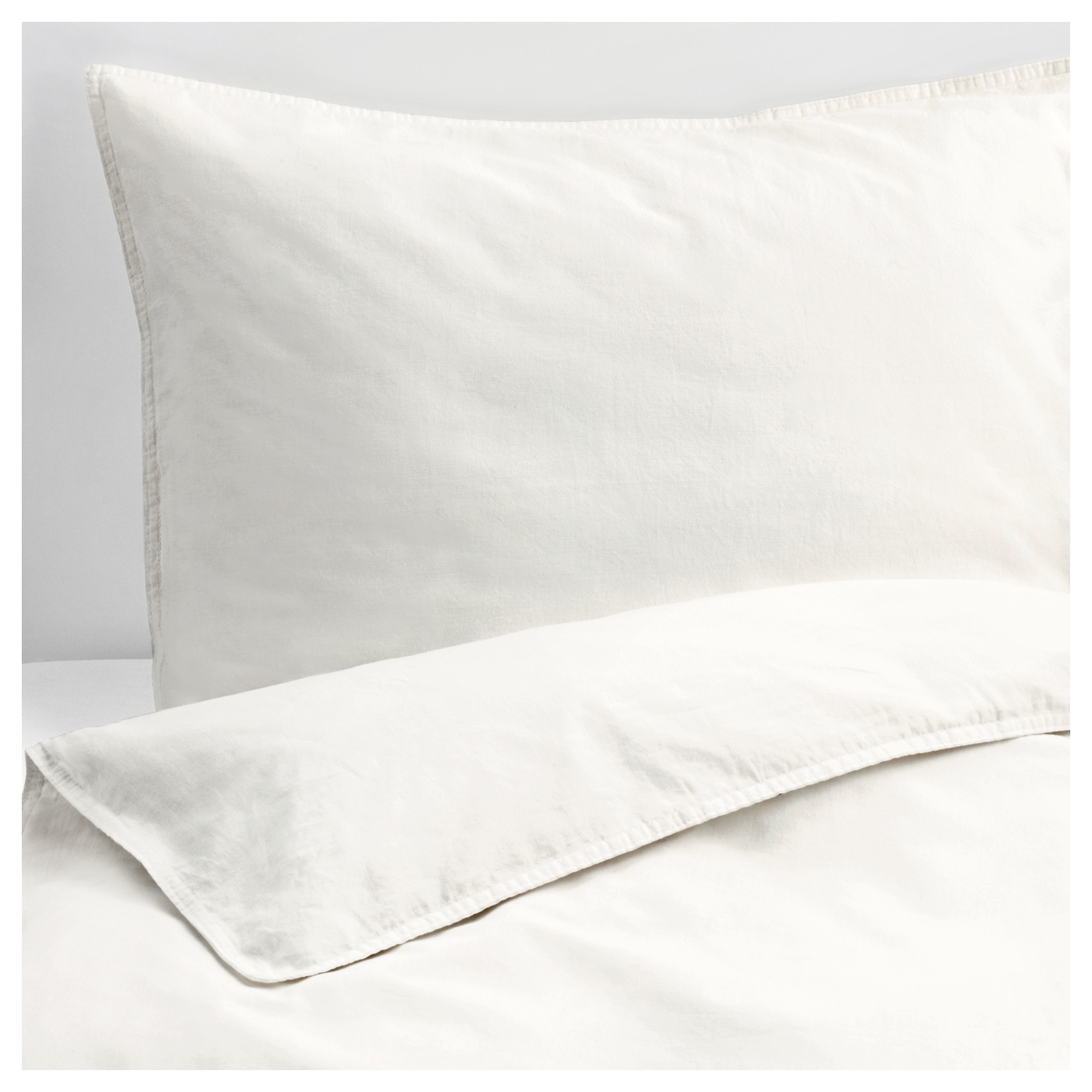 ngslilja duvet cover and pillowcases white thread count 125 inch