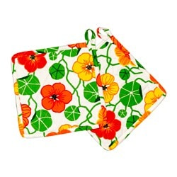 ELLICA pot holder, flower multicolour Length: 22 cm Width: 22 cm Package quantity: 2 pack