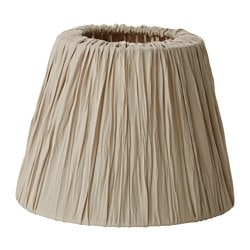 HEMSTA lamp shade, beige Diameter: 20 cm Height: 15 cm