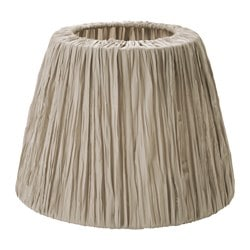 "HEMSTA lamp shade, beige Height: 10 "" Diameter: 14 "" Height: 26 cm Diameter: 36 cm"