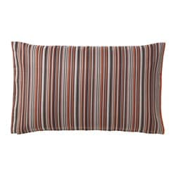 STRANDKÅL cushion cover, orange, red Length: 40 cm Width: 65 cm