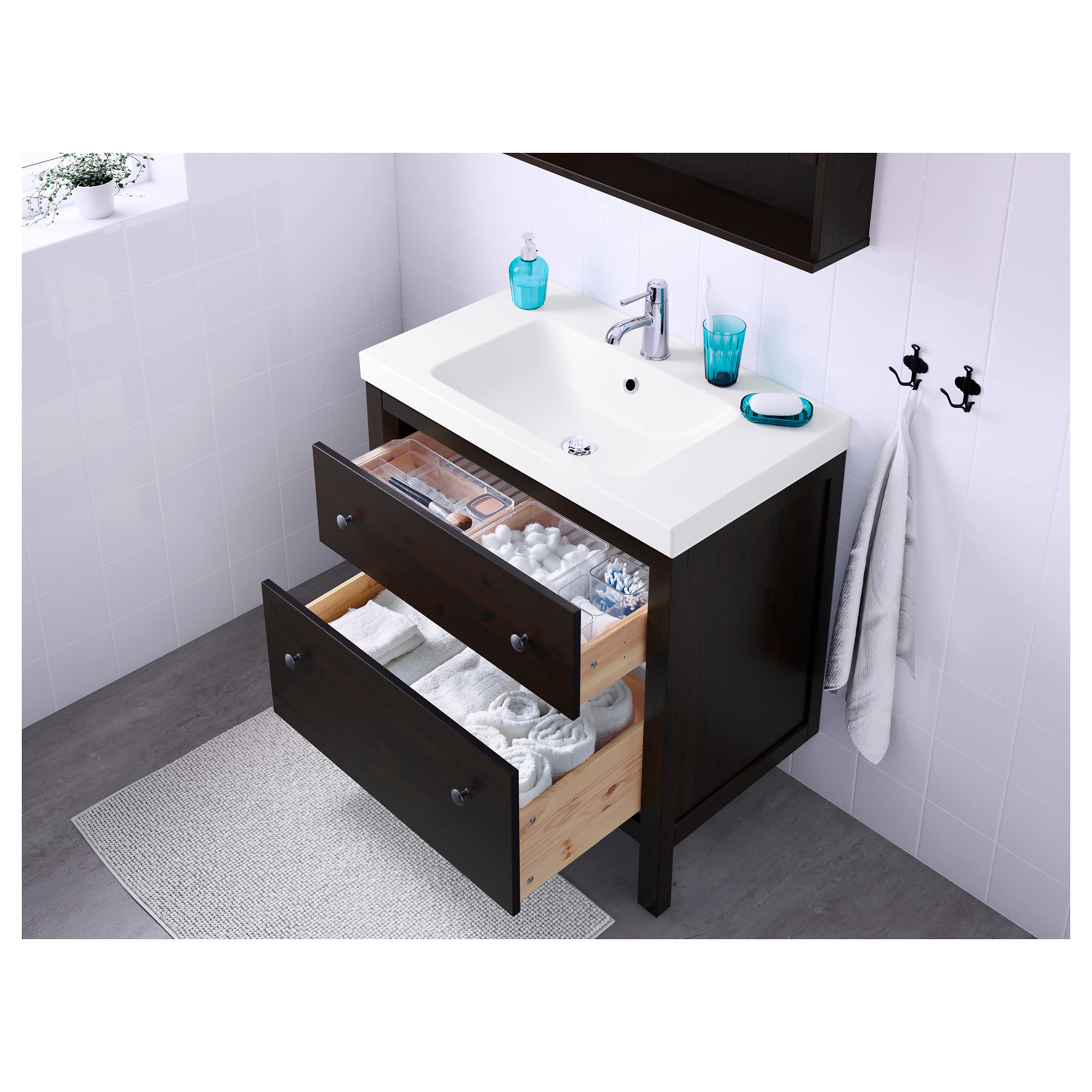 HEMNES / ODENSVIK Sink Cabinet With 2 Drawers   White   IKEA