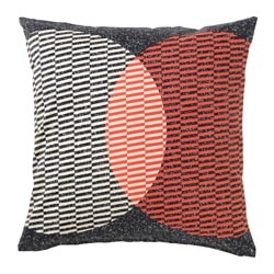 VÅRLÖK cushion cover, orange, black Length: 50 cm Width: 50 cm