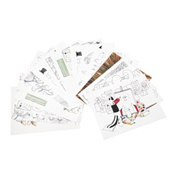 "SAGOSKATT coloring book Pages: 17 pack Width: 11 3/4 "" Height: 15 3/4 "" Pages: 17 pieces Width: 30 cm Height: 40 cm"