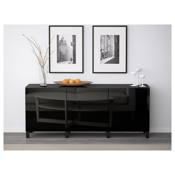 best aufbewahrung mit t ren schwarzbraun selsviken hochglanz schwarz ikea. Black Bedroom Furniture Sets. Home Design Ideas