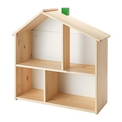 FLISAT doll's house/wall shelf Width: 58 cm Depth: 22 cm Height: 59 cm