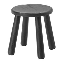 SVÄRTAN side table/stool, black Seat diameter: 49 cm Height: 42 cm