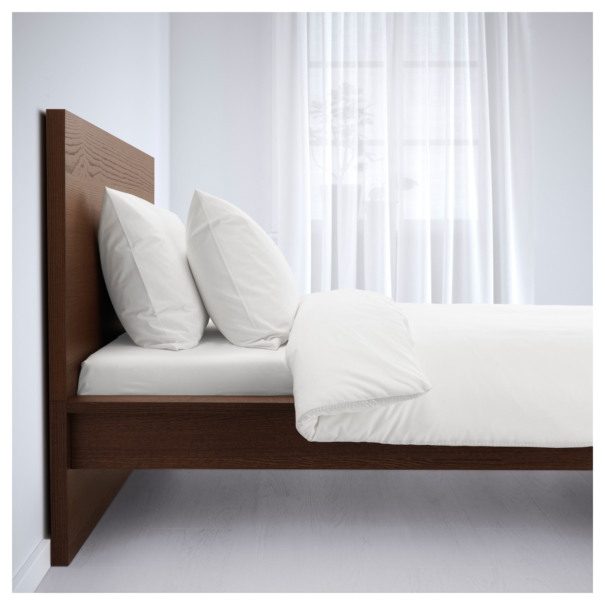 MALM Bed frame, high - King, - - IKEA
