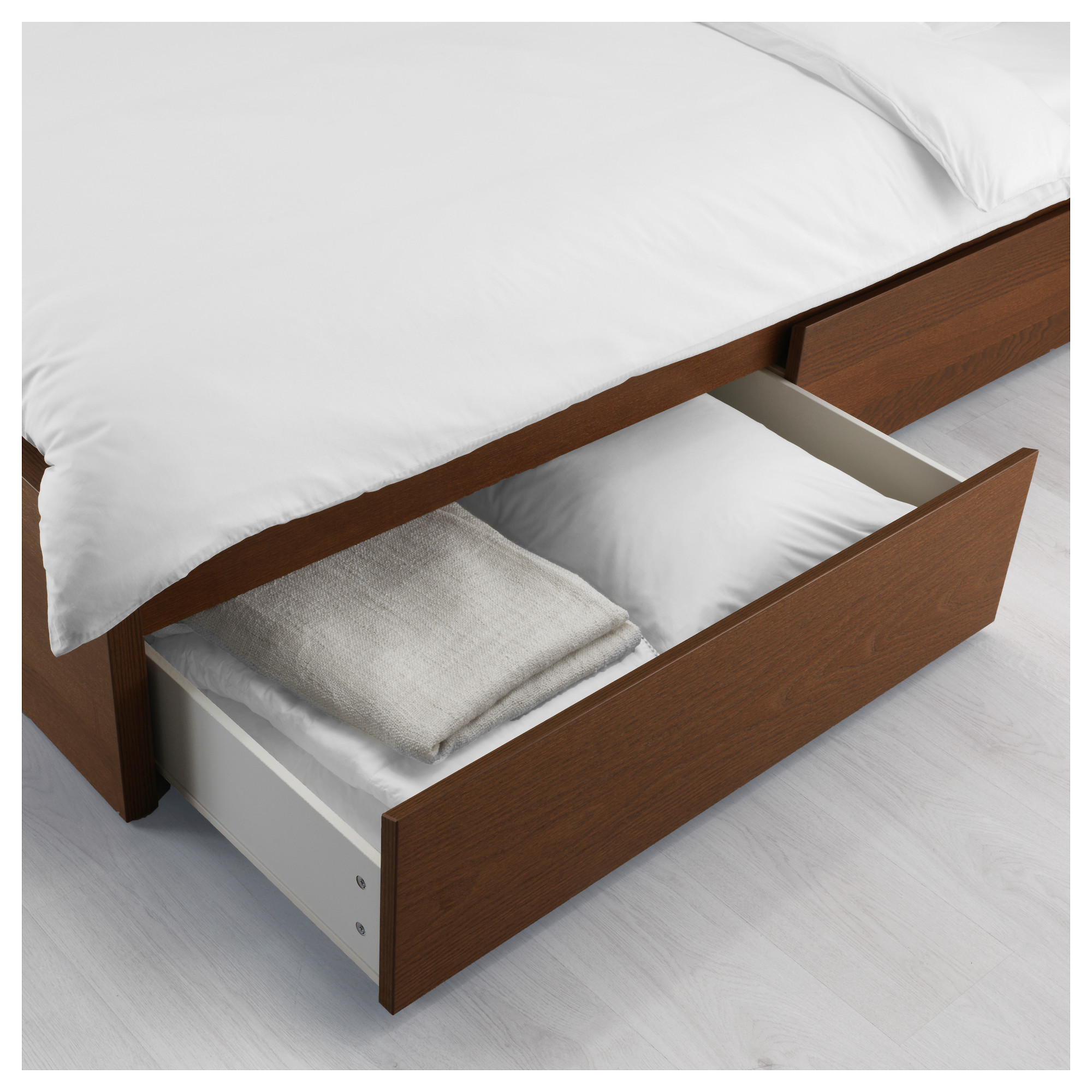 MALM Underbed storage box for high bed black brown Full Double