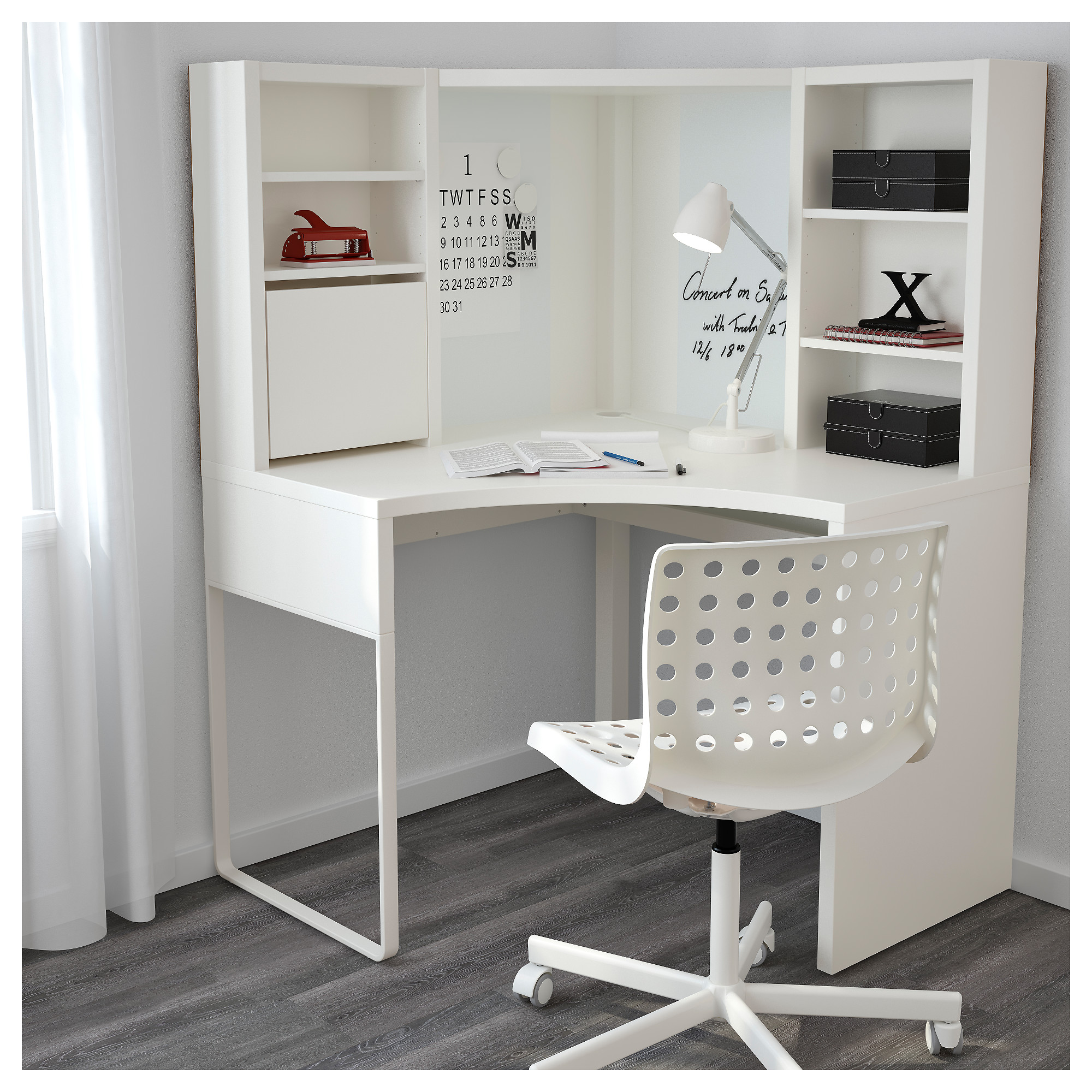 p corner white desk furniture computer lex wooden flexi in