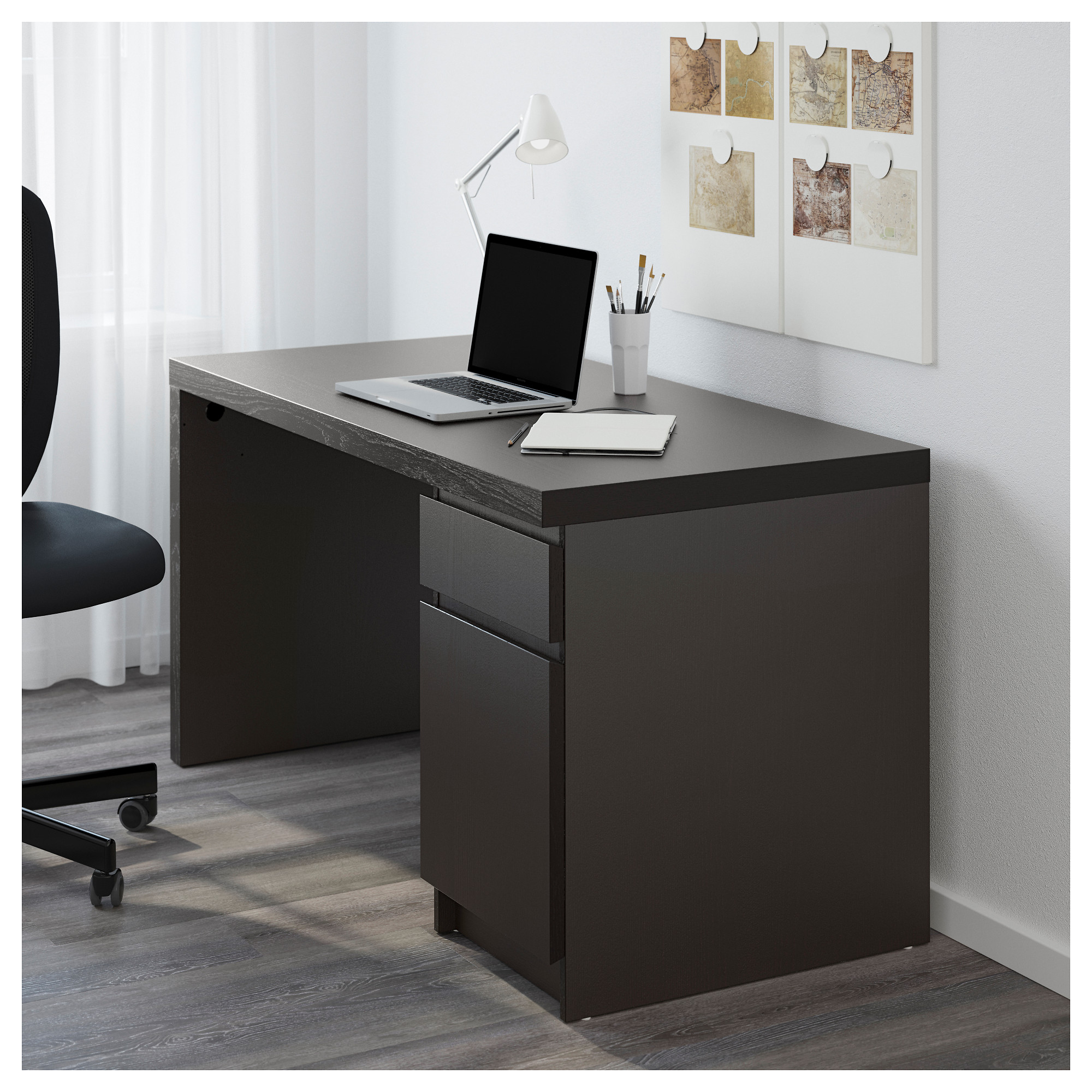 nice Ikea Malm Black Brown Part - 4: MALM Desk - black-brown - IKEA