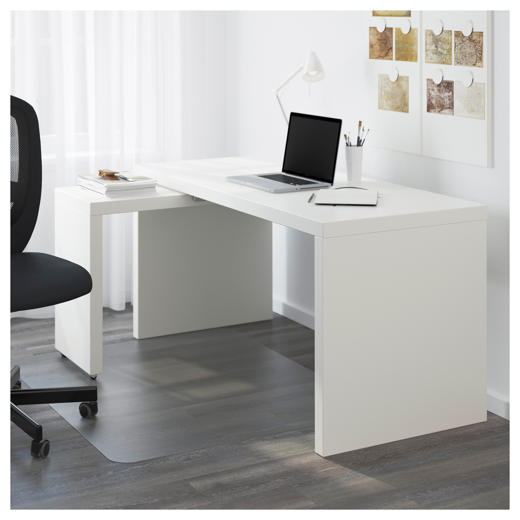 Ordinaire IKEA MALM Desk With Pull Out Panel